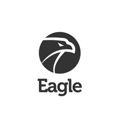 black eagle logo icon design template vector image
