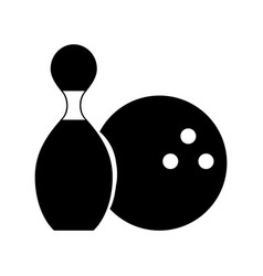 Black icon pin and ball cartoon vector