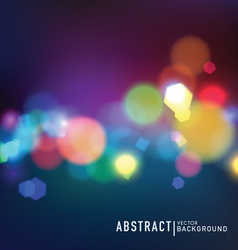 Blurred lights vector image