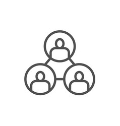business community teamwork people connection vector image