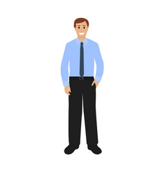businessman in shirt and pants vector image