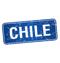Chile blue stamp isolated on white background vector
