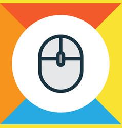 computer mouse colorful outline symbol premium vector image