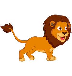 cute lion cartoon stock vector image
