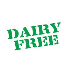 Dairy free typographic stamp vector