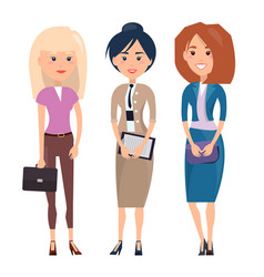 employees ladies collection vector image
