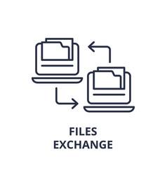 files exchange line icon concept files exchange vector image