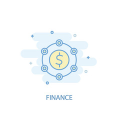Finance line concept simple line icon colored vector