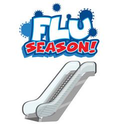flu season font in cartoon style with escalator vector image