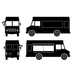 food truck silhouette vector image