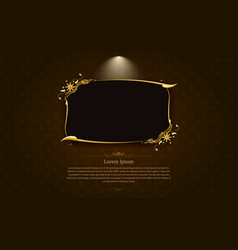 Frame border picture gold thai art 1 vector