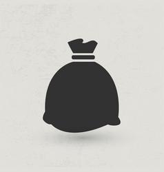 full black sack vector image