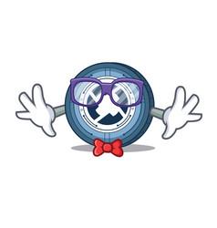 Geek 0x coin character cartoon vector