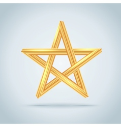 Gold Inconceivable Pentagram vector image