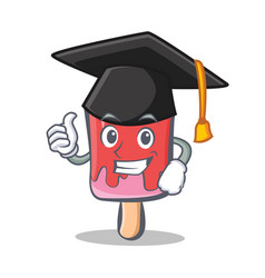 graduation ice cream character cartoon vector image