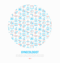 Gynecologist concept in circle vector