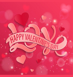 Happy valentines day design card vector