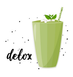 Healthy fresh drink smoothie dexot meal vector