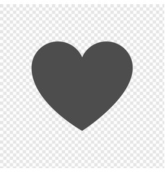 heart icon in flat design on transparent vector image