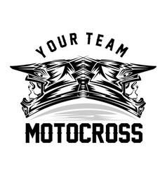 helmet motocross motocross design for t-shirt vector image