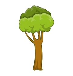 High tree icon cartoon style vector image