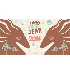 horses 2014 vector image