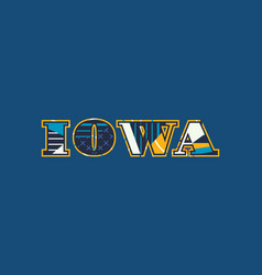 iowa concept word art vector image