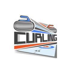 Logo curling sport vector
