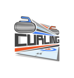 Logo of curling sport vector