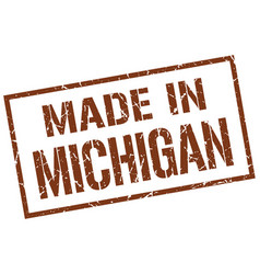 Made in michigan stamp vector
