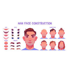 man face constructor avatar male character vector image