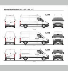 Mercedes sprinter cargo van l2h1 l2h2 l2h3 2017 vector