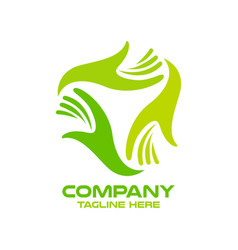 Modern logo hands and gynecology vector
