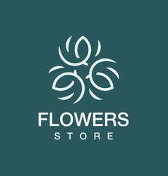Modern professional logo flowers store in green vector