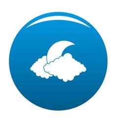 moon icon blue vector image
