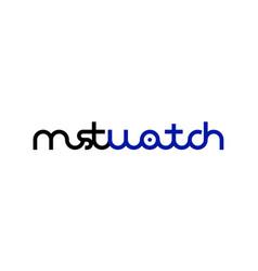 Must watch logo monogram vector