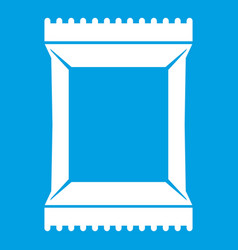 Napkins pack icon white vector
