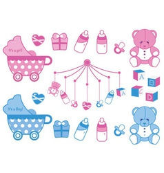 newborn icons vector image vector image