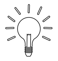 outline bulb light idea business innovation vector image