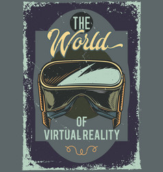poster design with of a vr glasses vector image