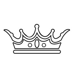 Princess crown icon outline line style vector