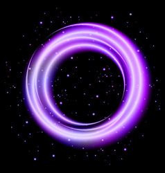 purple light shining circle banner vector image