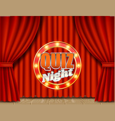 Quiz night retro banner poster design vector