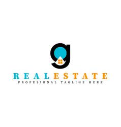 Real estate initial letter g logo design template vector