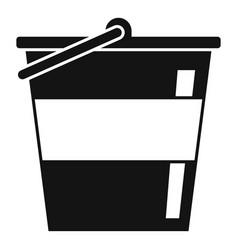 Reconstruction metal bucket icon simple style vector