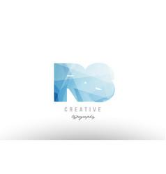 Rs r s blue polygonal alphabet letter logo icon vector