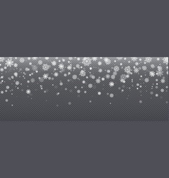 snow background realistic snowflakes christmas vector image