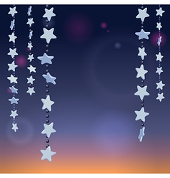 Stars night vector image