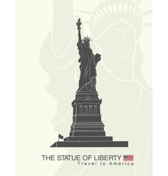 Statue of Liberty New York landmark vector image