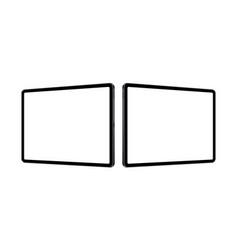 Tablet computers horizontal mockups vector